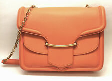 ALEXANDER McQUEEN Bright-Orange Grained Leather 'HEROINE' Shoulder Bag