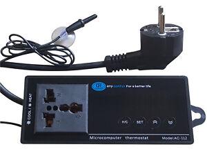Digital Thermostat Temperaturregler Inkubator Aquarium Terrarium Terrarien /A120