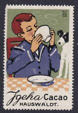 Germany Poster Stamp  BOY & HIS DOG