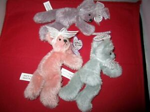 "Lot of Vintage Annette Funicello Bear Co. 8"" Plush Bear ""Bean Bag Tags & Certifi"