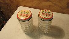 Old Fire King Tulip Lid Salt & Pepper Set