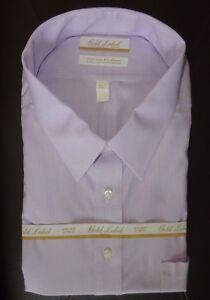 Roundtree Yorke Dress Shirt Purple Pinstriped Size 19 - 36/37 BIG NWT (BT-18)