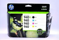 Genuine HP 940XL Combo 4 Pack Ink Cartridges Black Cyan Magenta Yellow - EXPIRED