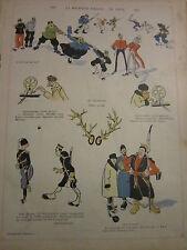 Caricature 1904 - La bouteille d'encre...de Chine