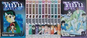 YuYu Hakusho Manga lot 14 Volumes  Yoshihiro Togashi Viz Media English