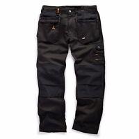 Scruffs WORKER PLUS Black Mens Work Trousers Trade Hardwearing Combat Cargo