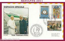 W239 VATICANO FDC ROMA VISITA PAPA GIOVANNI PAOLO II GERMANIA FEDERALE KÖLN 1987