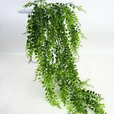 Artificial Hanging Plants Ivy Leaves Fake Vine Leaf Garland Fern Succulent Green