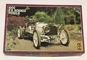 "FX Schmid 1000 Piece Jigsaw Puzzle ""Mercedes Oldtimer"" 1904 Mercedes 26.75x17.5"