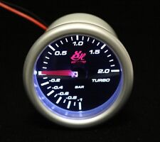 2.045'' 52mm BAR LED7707 TURBO BOOST VACUUM GAUGE CAR LED WHITE LED LIGHT DIAL