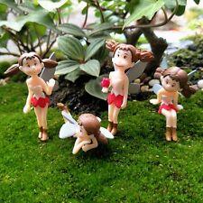 Mini Ornament 4Pcs Little Girls Figurines Creative Fairy Garden Decorations