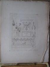 Vintage Print,TITLE PAGE,Plate 1,Palais de Rome,18th Century