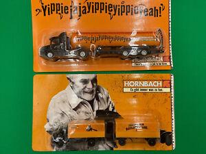 1/87 H0 Konvolut 2 X Hornbach Trucks Scania und Mercedes-Benz OVP !