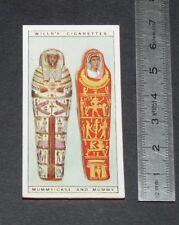 CHROMO 1926 WILLS CIGARETTE CARD EGYPTE EGYPT EGYPTIAN MUMMY-CAS AND MUMMY