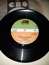 ac/dc single whole lotta rosie uk first press