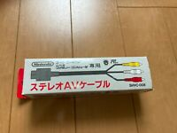 Nintendo Official Video Cable SHVC-008 Boxed For Super Famicom