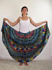 Vintage 70's Hippie Boho Floral Print Gauze Maxi Skirt by Just Class - Medium