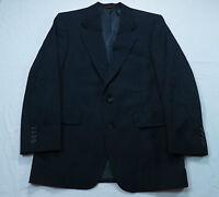 Vtg Mens Hart Schaffner Marx Blue Pinstripe Wool Blazer Size 40 Suit Coat Jacket