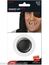 Mens Ladies Pirate Party Make Up Black Tooth Wax Fancy Dress Costume Accessory