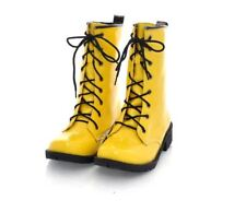 Womens Patent Leather Casual Ankle Boots Lace Up Booties round toe work Shoes
