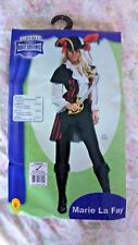 Pirate Fancy Dress Marie La Fay Womens upto size 12 + wig & sword used once