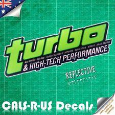 TURBO High Tech Drag Race Performance Reflective Vinyl Decal Sticker for Car JDM