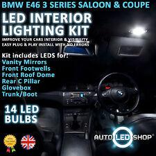 Bmw E46 Serie 3 Coupe Led Interior Upgrade Kit Completo Conjunto De Bulbo Xenon Blanco