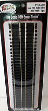 "Atlas (HO-Scale) #821Code 100 Straight Snap-Track 9"" Straight-Black Ties (Pkg-6)"
