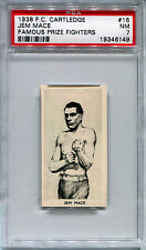 1938 F C Cartledge Razors JEM MACE Famous Prize Fighters #16 HOF Near Mint PSA 7