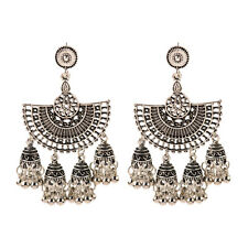 Fashion Bollywood Bohemian Silver Gold  jhumka Handmade Earrings Indian Jewelry
