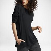 Women's NikeLab Essentials Top - CHOOSE SIZE - 848729-010 LS Tee Shirt Lab Black