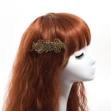 Vintage Steampunk Gear Butterfly Hair Clip Gothic Punk Hairpin Cosplay Headwear