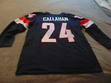 SALE!Collectible RYAN CALLAHAN -SIGNED- 2014 OLYMPIC JERSEY-NHL LEGEND New w/COA