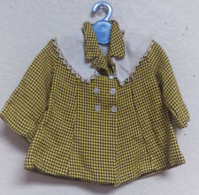 Terri Lee Tagged Houndstooth Print Coat with removable collar and Totsy Hanger