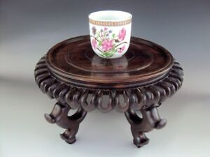 STUNNING  Antiques Chinese Oriental Carving Hard Woods Carved Stand