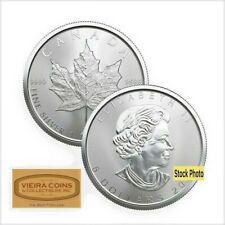 2014 Canada Maple Leaf 1 oz Silver  $5, BU Brilliant Uncirculated - #NQB/MAPLE