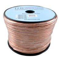 Car Home Audio Speaker Wire Transparent Clear Cable 14AWG 250ft 14/2 Gauge