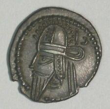 208-228 Ad Parthian Kingdom Silver Drachma Vologases Iv C014 *Free U.S Shipping