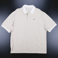LACOSTE  Beige Logo Short Sleeve Polo Shirt Mens XL