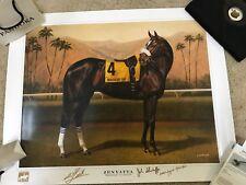 """Zenyatta """"Breeders' Cup Gold"""" 28x 22 print Jamie Corum signed by Smith Shirreffs"""