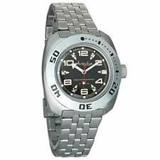 Vostok Amphibian 710335 Watch Russian Scuba Diver Automatic Military Black