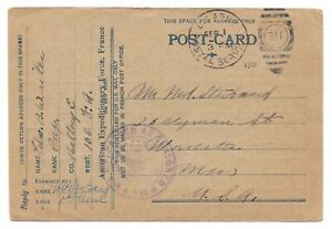WW1 WWI US soldier Writer, 102nd Fd Arty > Starbard, Worcester, MA, Jan 1918
