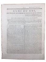Journal royaliste de la Révolution Française 1791 Metz Marquis Bouillé Périgord
