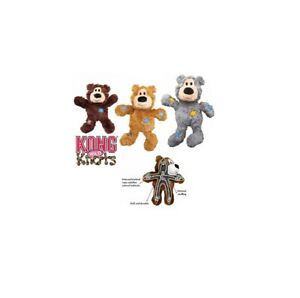 KONG Wild Knots Bear for Dogs Internal knotted rope skeleton SOLD EACH ITEM XS