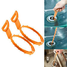 New 2Pcs Drain Unblocker Stick Snake Cleaner Hair Remover Tools Sink Shower Bath