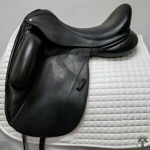 ON TRIAL Custom Saddlery 17.5″ M Icon Flight Monoflap Dressage Saddle