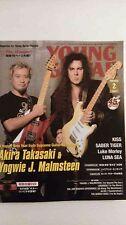 Young Guitar Japan 2014 Feb Akira Takasaki Yngwie J Malmsteen Kiss Luke With DVD