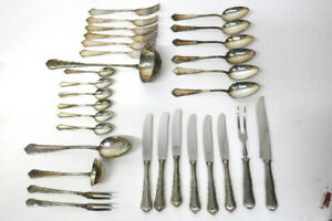 WMF 800 Silber Besteck Chippendale / 6 Personen 31.Teile