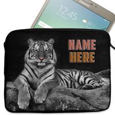 "Personalised Tablet Case TIGER Neoprene Sleeve Cover 7"" 8"" 9"" 10"" SH233"