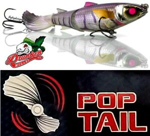 """Chasebaits Drunken Mullet - Floating 5.1"""" Jelly Prawn 1.3 oz with Pop Tail Lure"""